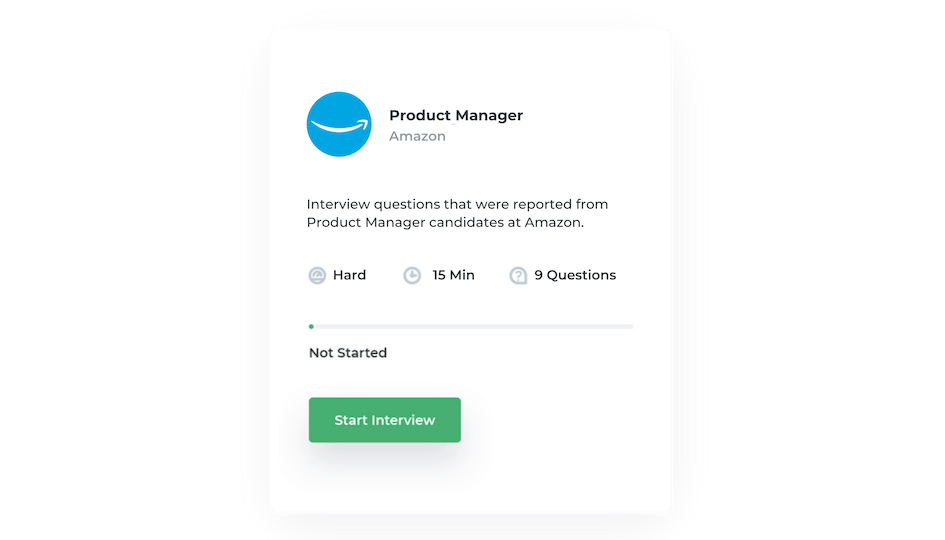 interview school card for amazon product manager