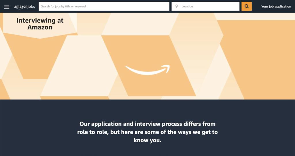 amazon careers homepage